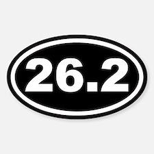 26.2 Marathon Running Black Euro Oval Decal