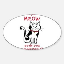 Meow Rectangle Decal