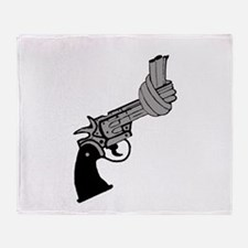Knotted Gun Throw Blanket
