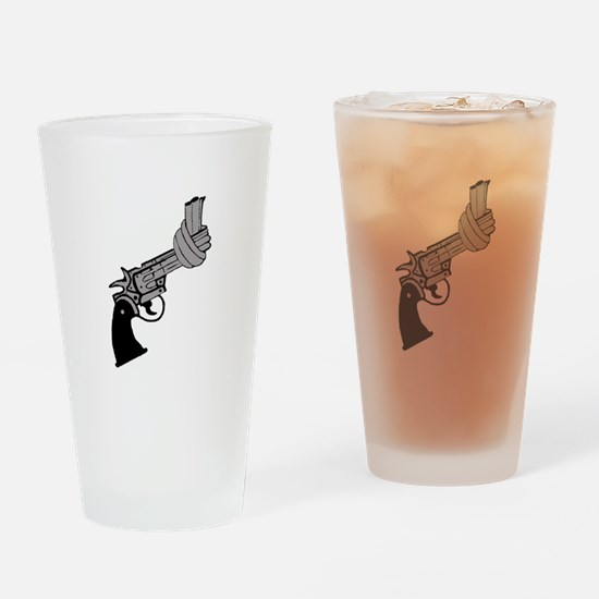 Knotted Gun Drinking Glass