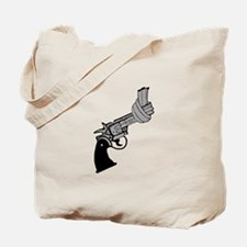 Knotted Gun Tote Bag