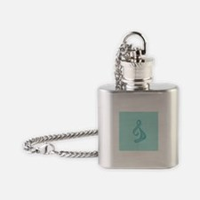 """Teal Ribbon Twist"" Flask Necklace"