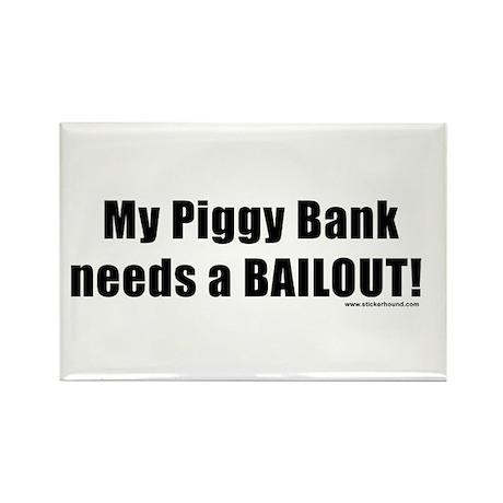 piggybankbailout.png Rectangle Magnet