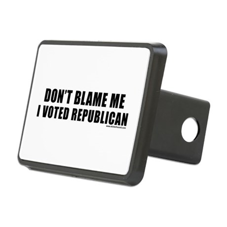 dontblame_white.png Rectangular Hitch Cover