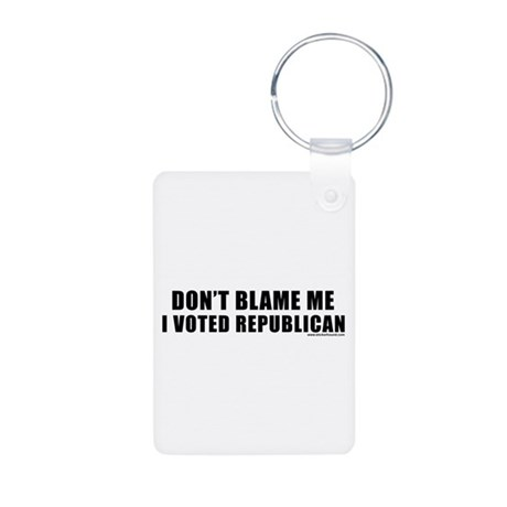 dontblame_white.png Aluminum Photo Keychain