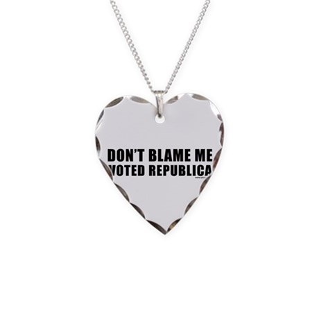 dontblame_white.png Necklace Heart Charm