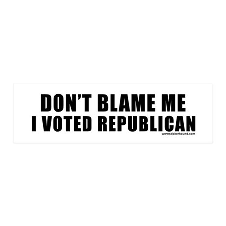dontblame_white.png 36x11 Wall Decal