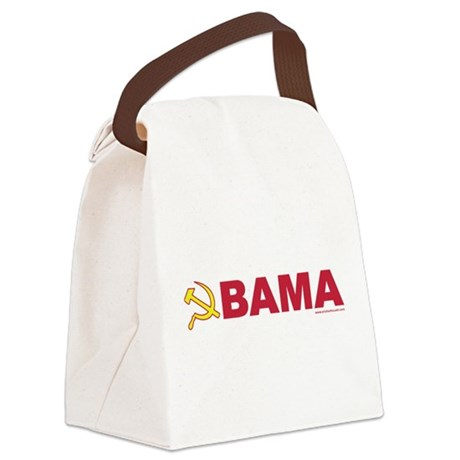 obamarussian_whiteredyellow.png Canvas Lunch Bag