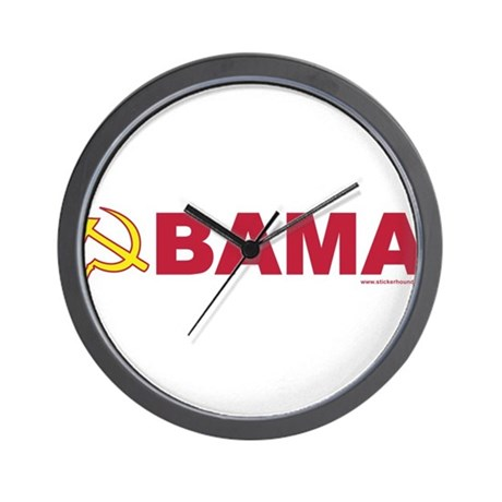 obamarussian_whiteredyellow.png Wall Clock