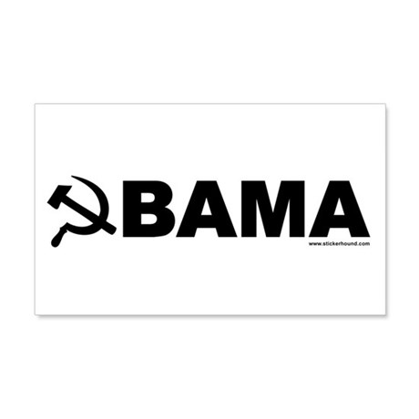 obamarussian_whiteblack.png 20x12 Wall Decal