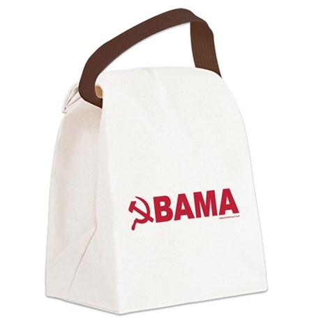 obamarussian_whitered.png Canvas Lunch Bag
