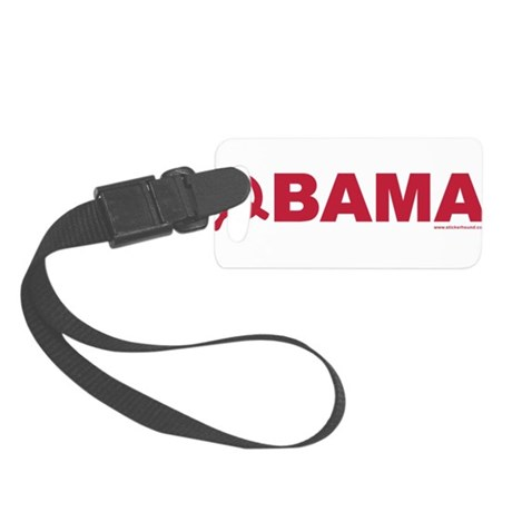 obamarussian_whitered.png Small Luggage Tag