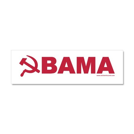 obamarussian_whitered.png Car Magnet 10 x 3