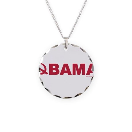 obamarussian_whitered.png Necklace Circle Charm