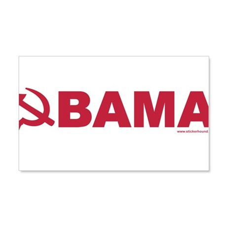 obamarussian_whitered.png 20x12 Wall Decal