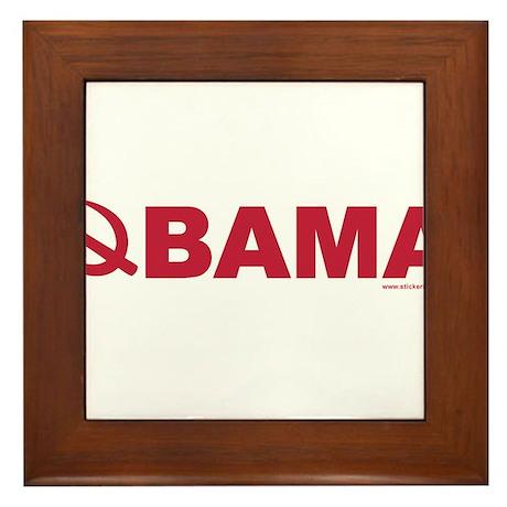 obamarussian_whitered.png Framed Tile