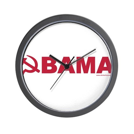 obamarussian_whitered.png Wall Clock