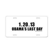 obamalastday_white.png Aluminum License Plate