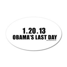 obamalastday_white.png Decal Wall Sticker