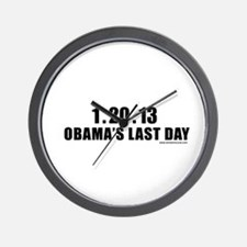 obamalastday_white.png Wall Clock