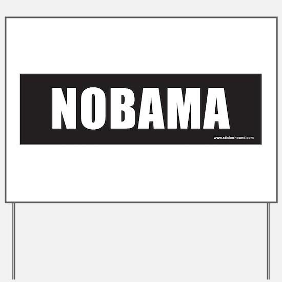 NOBAMAblack.png Yard Sign