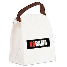 NOBAMAredno.png Canvas Lunch Bag