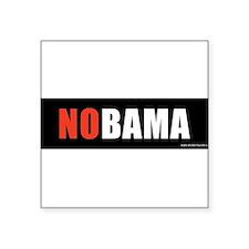 "NOBAMAredno.png Square Sticker 3"" x 3"""