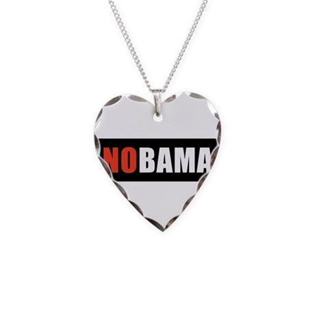 NOBAMAredno.png Necklace Heart Charm