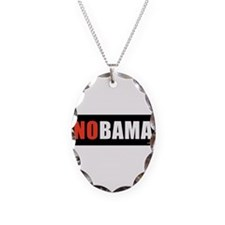NOBAMAredno.png Necklace Oval Charm