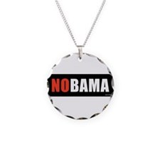 NOBAMAredno.png Necklace Circle Charm