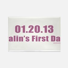 012013_palinsfirstday.png Rectangle Magnet