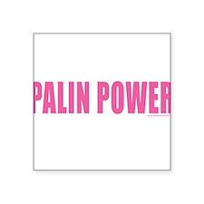 "palinpower_pink.png Square Sticker 3"" x 3"""