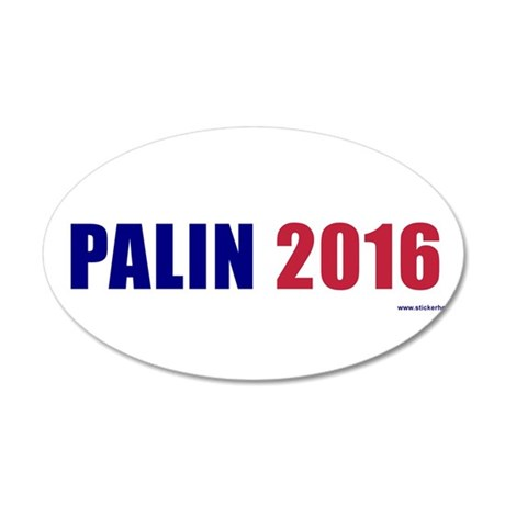 palin2016.png 20x12 Oval Wall Decal