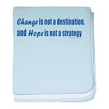 Changeisnotadestination_whiteblue.png baby blanket