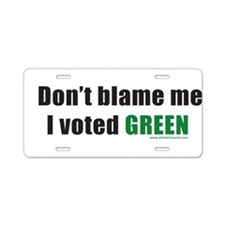 dontblameme_green.png Aluminum License Plate
