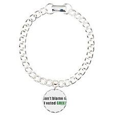 dontblameme_green.png Charm Bracelet, One Charm