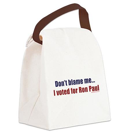 dontblameme_ronpaul.png Canvas Lunch Bag