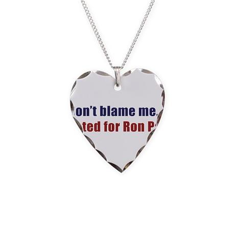 dontblameme_ronpaul.png Necklace Heart Charm