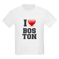I LOVE BOSTON - HEART T-Shirt