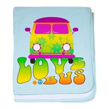 Love Bus baby blanket