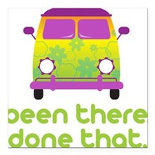 """Been There Square Car Magnet 3"""" x 3"""""""