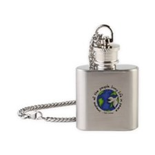 Imagine - World - Living In P Flask Necklace