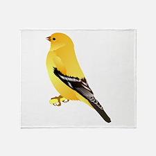 Gold Finch Throw Blanket