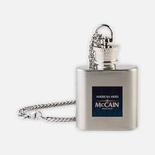 American Hero McCain Flask Necklace