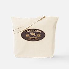 Lake Tahoe Belt Buckle Badge Tote Bag