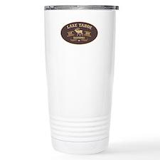 Lake Tahoe Belt Buckle Badge Travel Mug