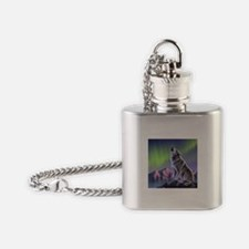Howling Wolf 2 Flask Necklace