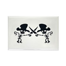 Pirates with crossed swords Rectangle Magnet