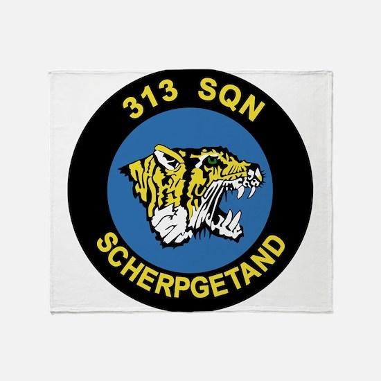RNLAF 313 Sqn Throw Blanket