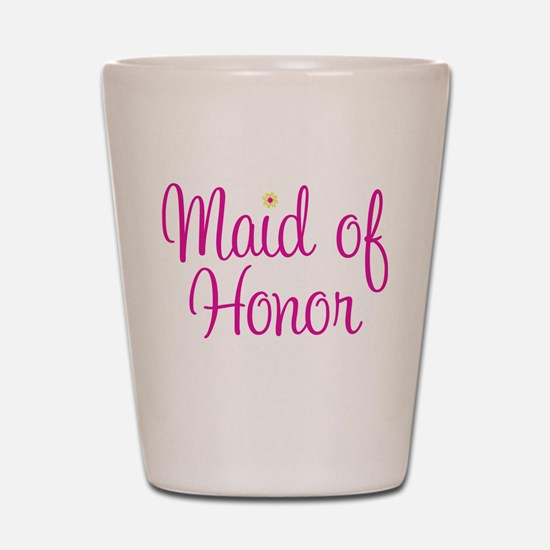 Funny Flower girl Shot Glass